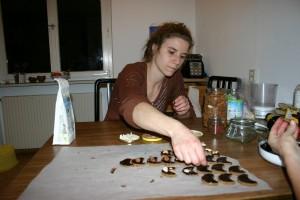Verzieren der Lebkuchen